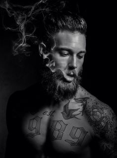 "Model: Billy Huxley | Photographer: Lee Roberts | Grooming: Tom Harrigan ""My tattooist Sean works in Gants Hill, Essex, his shop is called Steel Beauty."""