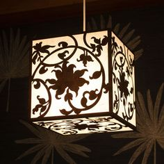 laser cut hanging ligh shade