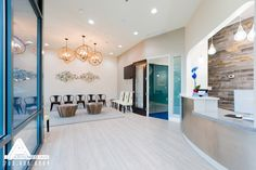 Neutral and Nautical Waiting Room. Dental Office Design by Arminco Inc.
