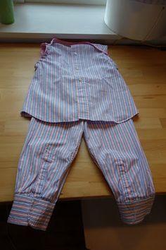 Pyjama de fille dans une chemise d'homme, Les Ptits Projets