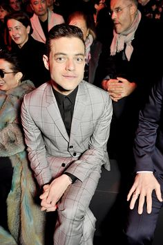""" Rami Malek attends the Dior Homme Menswear Fall/Winter 2016-2017 show as part of Paris Fashion Week on January 23, 2016 in Paris, France. """