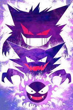 Gastly evolution poster by Lynx Art