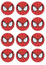 "Résultat de recherche d'images pour ""free printable cupcake wrappers and toppers with spiderman"""