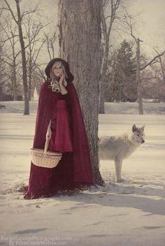 Red Riding Hood Cape Red Micro Velvet-Custom to Order. $375,00, via Etsy.