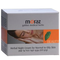 Moraz Galilee Medical Herbs Herbal Night Cream for Normal to Oily Skin 1.7 fl oz (50 ml) by Moraz. $7.60. Natural preparations are specifically recommended for women who suffer from seborrhea and sensitive itchy, red skin. This cream is enriched with pure herbal oils of jojoba, cocoa butter and coconut. The natural, organic ingredients act as natural antioxidants and help delay the skin's aging process. A nourishing night cream which assists in skin cell regeneration an...