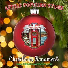 Rekindle childhood memories with your own Little Popcorn Store glass Christmas ornament – the perfect conversation piece for sharing memories with family and friends. Every family has a story – so share yours! After all, Christmas is family time, and the happiest of holidays are filled with sharing stories and reconnecting with those you love. Glass Christmas Ornaments, Christmas Bulbs, Merry Christmas, Popcorn Store, Childhood Memories, Illinois, Conversation, Sweet Home, Holidays