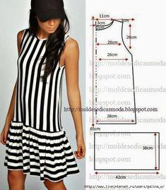 Выкройка платья с заниженной талией (Шитье и крой) | Журнал Вдохновение Рукодельницы