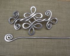 Celtic Knot Double Swirls and Curls Aluminum by nicholasandfelice, $22.00