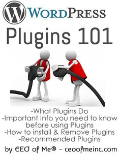 WordPress 101 – What Plugins Do, Must Have WordPress Plugins and How to Install and Remove Plugins