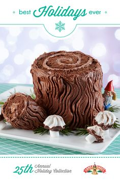 Tradition at its finest. A rich chocolate cake that looks like a log –add your own decorations, and your holiday centerpiece is done.