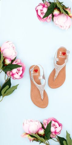 Sandals Summer SWEET SANDAL   Featuring intricate embellishment the 'CUZ' sandal is great for those looking for a sandal that will go from day to night! I Love Billy Shoes   Sandal   Summer   Pastels   Silver   Flat Lay - There is nothing more comfortable and cool to wear on your feet during the heat season than some flat sandals.