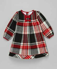 Another great find on Red & Black Plaid Bow Dress - Infant & Toddler by La Fleur & Le Papillon Toddler Dress, Baby Dress, Infant Toddler, Little Dresses, Little Girl Dresses, Baby Outfits, Kids Outfits, Girl Dress Patterns, Red And Black Plaid