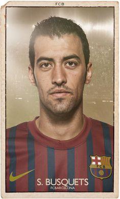 FC BARCELONA VINTAGE FOOTBALL CARDS by Mike Diver, via Behance