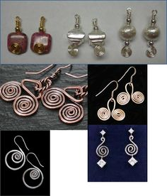 How to Make Various Spiral Coil Earrings