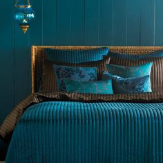 Sea green bedroom
