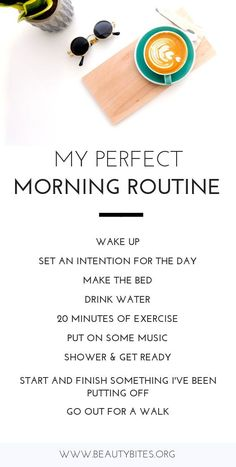 My favorite morning habits! This would be my perfect morning routine – a great s… My favorite morning habits! This would be my perfect morning routine – a great start for a great day to increase productivity, happiness and stay healthy. Healthy Morning Routine, Morning Habits, Morning Routines, Healthy Routine Daily, Daily Routine Schedule, Early Morning Workouts, Daily Routines, Good Habits, Healthy Habits