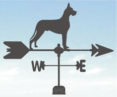 great dane cropped weathervane