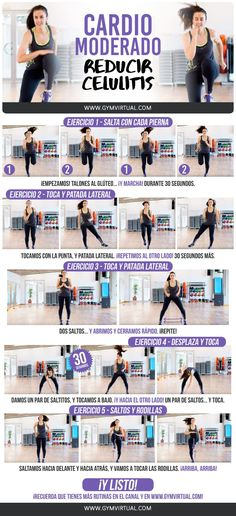 Effective Cardio Workouts In Only 20 Minutes. The perfect exercise regimen is one that combines strength training and some type of cardio. The problem is, many people hate doing cardio and will compris Weight Loss Meals, Losing Weight, Fun Workouts, At Home Workouts, Circuit Workouts, Cardiovascular Training, Benefits Of Cardio, Fat Burning Cardio, Cardio Training