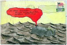 An envelope illustrated by Gorey. I <3 this so much!!!