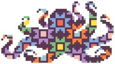Cross Stitch Pattern Octopus Silhouette by RagingStitches on Etsy, $5.00