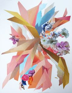 "Kevin Clark amazing collages @huerubykevinclark for lots of color !  ""efflorescent"" _ 11""w x 14"" h _  7.14"