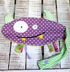 Schnuller-/Schmusetuch Monster O von LiebensWert auf DaWanda.com