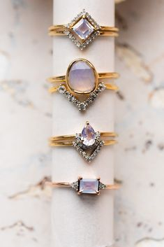 shop delicate moonstone & diamond stacking sets and statement rings from Local Eclectic. add these showstoppers to your daily jewels. Cute Jewelry, Body Jewelry, Jewelry Accessories, Jewelry Ideas, Vintage Jewelry, Tourmaline Jewelry, Moonstone Jewelry, Silver Jewelry, Gold Jewellery