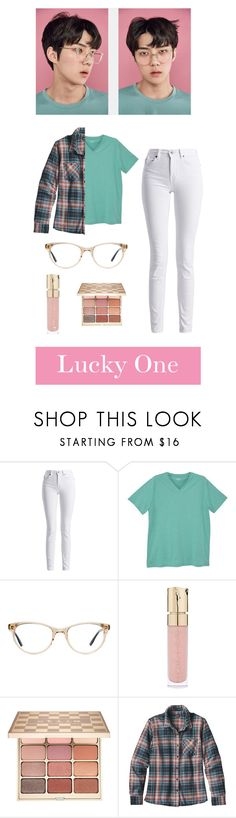 """""""Sehun- Lucky One"""" by chobitz ❤ liked on Polyvore featuring Barbour International, MANGO, Smith & Cult, Stila, Patagonia, pastel, EXO, Sehun, luckyone and aesthetic"""