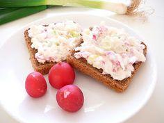 Delicious blog: Budiž jaro, ředkvičková pomazánka s mandlemi Krispie Treats, Rice Krispies, Healthy Cooking, Cheesecake, Muffin, Delicious Blog, Baking, Breakfast, Food