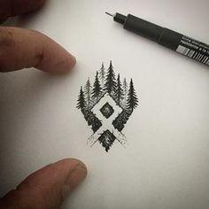 Rune Viking, Viking Tattoo Sleeve, Viking Tattoo Symbol, Norse Tattoo, Celtic Tattoos, Viking Tattoos, Mini Tattoos, Leg Tattoos, Body Art Tattoos