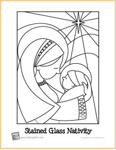 Stained Glass Nativity | Free Coloring Page - http://makingartfun.com/htm/f-maf-printit/stained-glass-nativity-coloring-page.htm