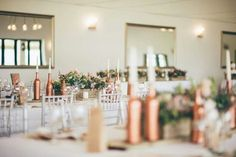 Make a modern venue look rustic