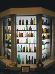 Back-lit Gazebo Bottle display - beautiful! | Inspiration-Mood-Dream board for the planning of The Mini Museum & Miniature Perfume Shoppe Gallery