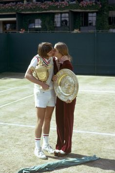 Jimmy Connors et Chris Evert