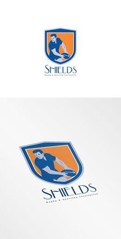 Shield Rugby Sports Logo by patrimonio on @creativemarket