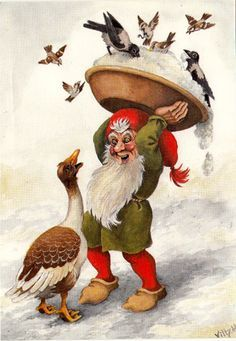 Vilhelm Hansen Illustrations, Illustration Art, Baumgarten, Decoupage, Kobold, Christmas Gnome, Christmas Illustration, Fairy Art, Magical Creatures
