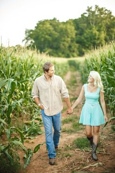 I love her turquoise dress and boots for this farm themed engagement session in Tennessee! by JoPhoto. see more on the blog! http://www.thebridelink.com/blog/2014/03/31/farm-engagement-photos-in-knoxville/