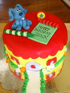 Blues Clues Birthday Cake top tier idea... Baby Girl 1st Birthday, 2nd Birthday Parties, Birthday Ideas, Birthday Cake, Clue Party, Blues Clues, Themed Cakes, Eat Cake, Cake Ideas