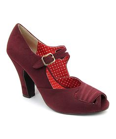 B.A.I.T. Berry Violet Peep-Toe Pump  THESE R JUST 2 CUTE!
