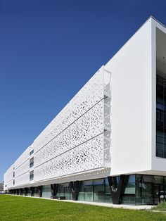 Image 5 of 11 from gallery of Perforated Facade Panel Metal Facade, Metal Cladding, Architecture 101, Minimalist Architecture, Parking Building, Building Facade, Wall Exterior, Exterior Cladding, Solid Surface