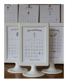 2015 Calendar Doodle With Pedestal Frame by lemonadepaperie, $23.20