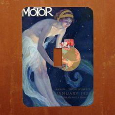 1929 Motor Show  Vintage Art Nouveau Advertising Poster