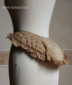 1872 side - Bustle pad stuffed with horsehair. 1870s Fashion, Edwardian Fashion, Vintage Fashion, Old Dresses, Vintage Dresses, Vintage Outfits, Historical Costume, Historical Clothing, Im So Fancy