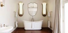 Catchpole & Rye project at Gaelforce, Palm Beach, Sydney House Design, Clawfoot Bathtub, Luxury Property, Bath, Bathroom, Gold Interior, Bathroom Design Luxury, Luxury Bathroom, Bathroom Design