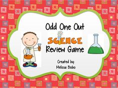 Odd One Out Science Vocabulary Review Game