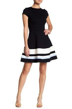 Multi Cap Sleeve Fit & Flare Dress by Love...Ady on @nordstrom_rack