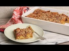 Overnight Pumpkin French Toast Casserole Recipe - Laura in the Kitchen - Internet Cooking Show Starring Laura Vitale