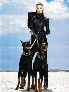 "Telegraph Magazine UK, Fall 2009 ""To The Mad Max"" Model: Angela Lindvall Stylist: Daniela Agnelli Photo: Alix Malka"
