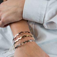 Bracelet Mya Bay en forme de zig zag géométrique