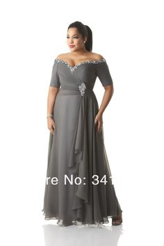 New Fashion Plus Size Mother of the Bride Dresses Chiffon Short Sleeve V Neck Beaded Free Shipping EL347.1-in Mother of the Bride Dresses from Weddings & Events on Aliexpress.com | Alibaba Group